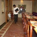 my son is walking during dinner...