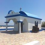 lovely little church faliraki harbour
