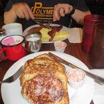 Cinnamon french toast and pancakes