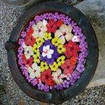 Vasque fleurie