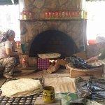 woamen making pancakes, trout farm