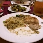 grilled chicken and couscous: quite good...