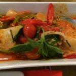 Curry de pato con lichis