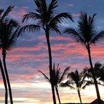 "Sunset from ""La Buffet"" balcony."