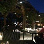 Watermark Wine Bar - Patio at night