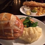 Chicken Pot Pie & Fish and Chips