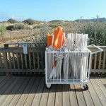 Para-ventos e guarda-sois gratuitos