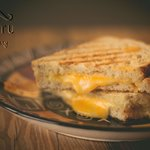 Grilled 3-cheese panini, made from our sourdough rye bread