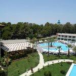 Het rustige zwembad en Italiaans restaurant