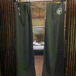 Curtain-door to room
