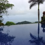 A shot from the infinity pool at Villas Calletas