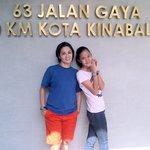 My Wife & Daughter in front of 63 Hotel Landmark