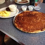 Pizza sized pancakes