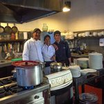 The awesome kitchen staff responsible for the yummy food.