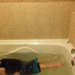 My son playing in jacuzzi