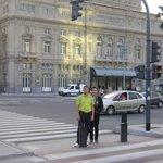 Frente al teatro colon, cerca al hotel