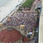 Band shell for Beatles cover band from 18th floor