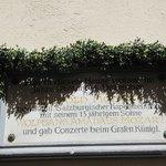 Aqui viveu Mozart