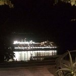 Cruise Ship Going By at Night