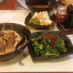 Beef Brisket Noodles and Taiwanese style vegetables