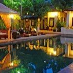 The pool veiw