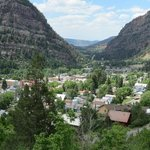 Ouray from top of mountain