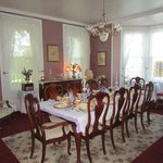 Beautiful dining room in the mansion...this is where breakfast is served