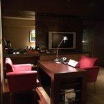 Desk in lounge room