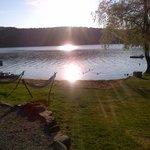 beautiful sunrise on Mountain Lake