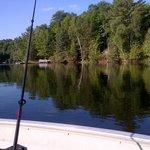 relaxing morning fishing