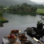 lovely breakfast view at the terrace