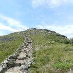 Looking up at the top of Mount Lafayette from the Franconia Ridge Trail