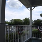 View from the front porch.  Complete with rocking chairs and ceiling fans!