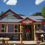 The front of the Avalanche Café in Silverton, Colorado. Awesome food and beverage.