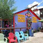 Side view of the Avalanche Café in Silverton, Colorado. What a treat this place is!