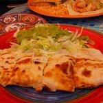 Quesadilla for less adventurous, still yummy!