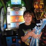 Winning in Arcade Room