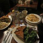 (L to R) Turkey Club, Salmon Sandwich and Mac'n'Cheese