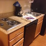 Great kitchen area & full size fridge