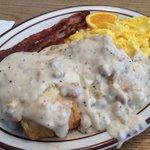 Biscuits and gravy breakfast
