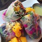 Mango spring rolls