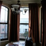 The bay windows in our room!