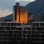 City skyline at dawn...