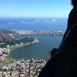 Climbing the Corcovado in Rio