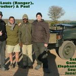 With our ranger (Louis) and tracker (Thomas).
