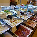 Some of the food at breakfast