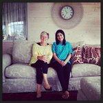With Christine!