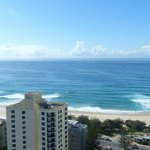 Actual view of Surfers Paradise
