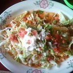 Huge fajita burrito to share