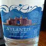 Water bottle at the hotel